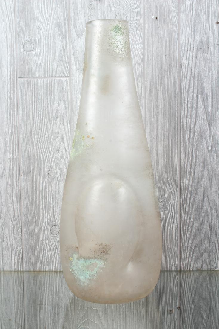 Vintage Studio Art Glass Scavo Vessel - 4