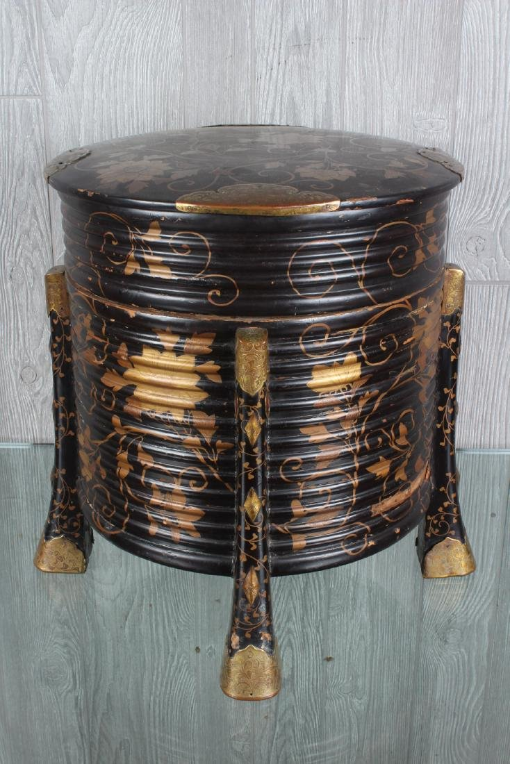 Japanese Bronze Mounted Lacquer Box