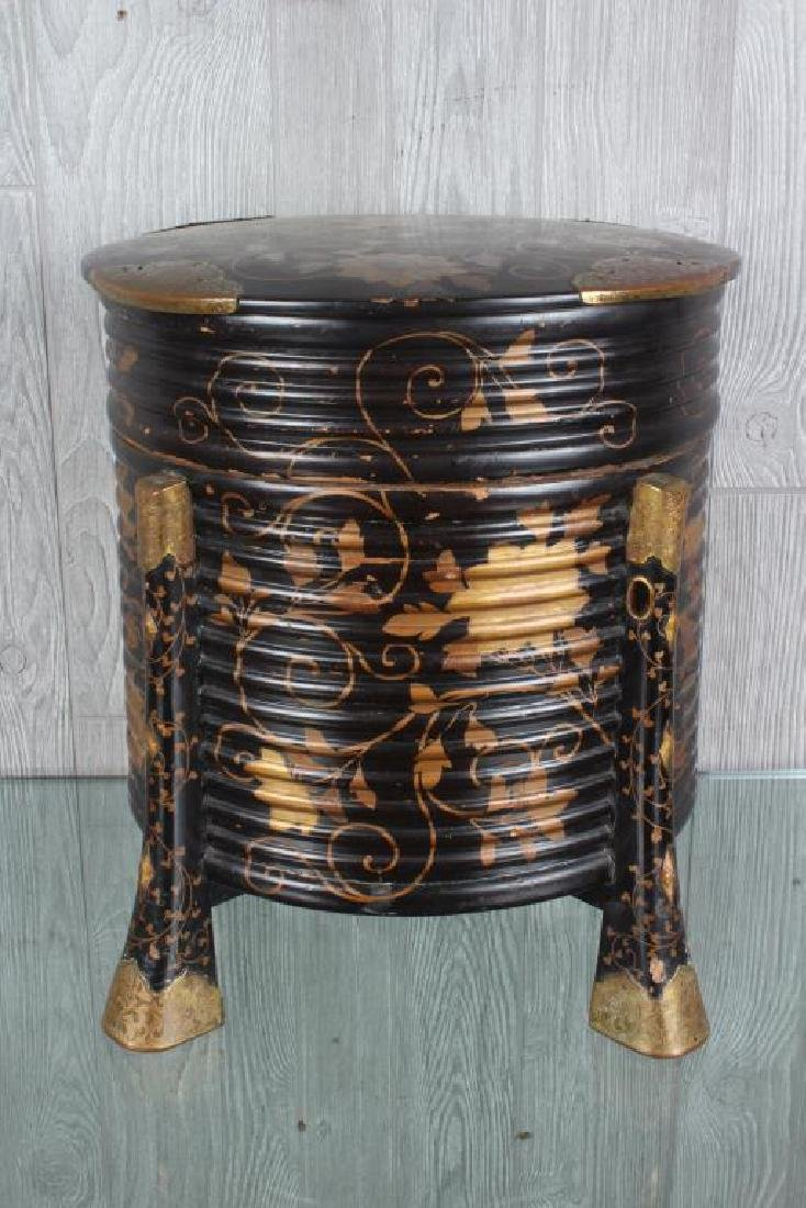 Japanese Bronze Mounted Lacquer Box - 3