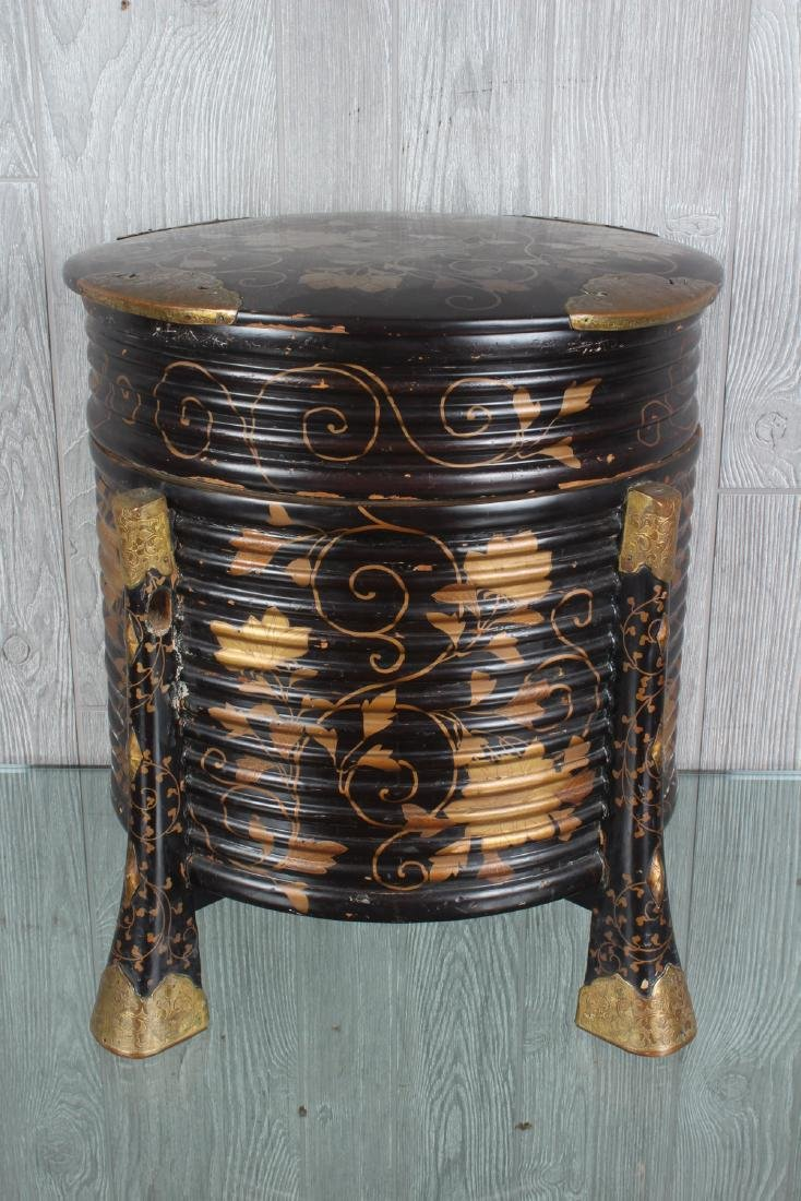 Japanese Bronze Mounted Lacquer Box - 4