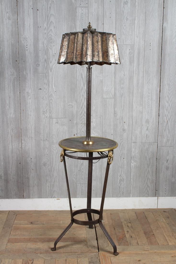 Iron and Bronze Floor Lamp