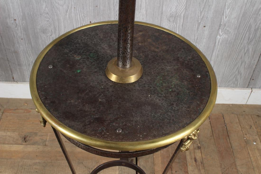 Iron and Bronze Floor Lamp - 4