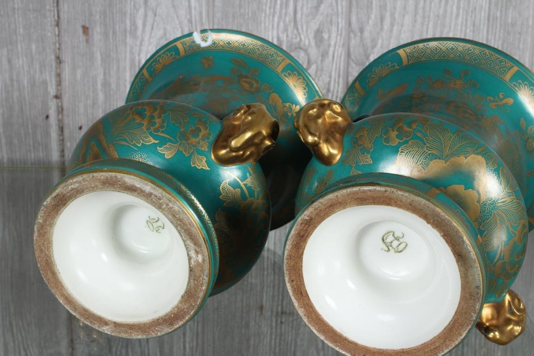 Pair Porcelain Sevre Style Urns Marked - 5