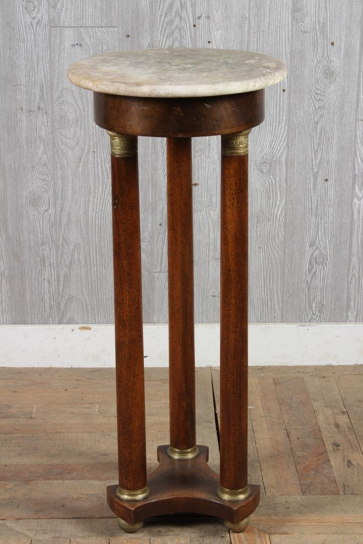 Empire Style Marble Top Pedestal