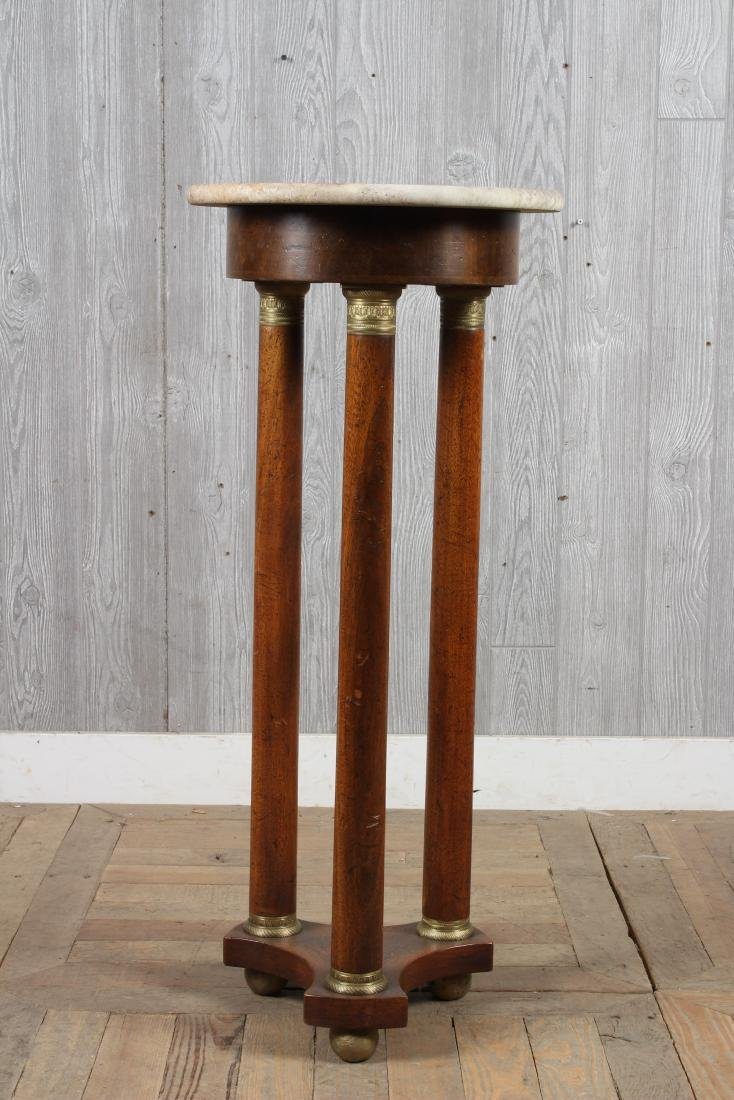 Empire Style Marble Top Pedestal - 5