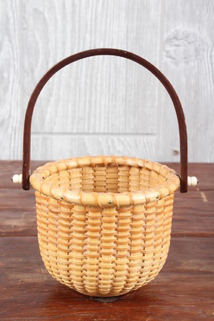 Nantucket Egg Basket Signed