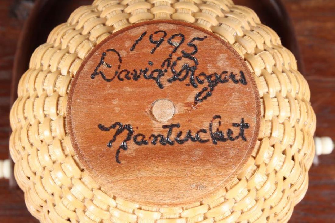 Nantucket Egg Basket Signed - 4