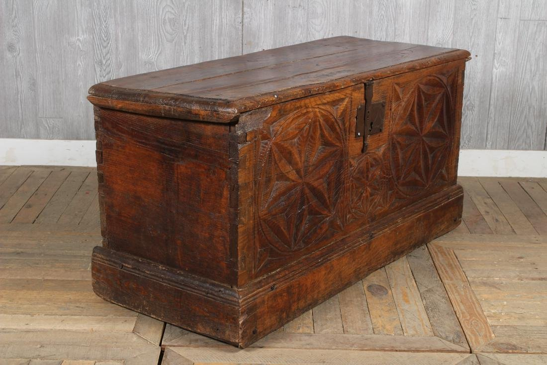 Chip Carved Anglo Indian Chest