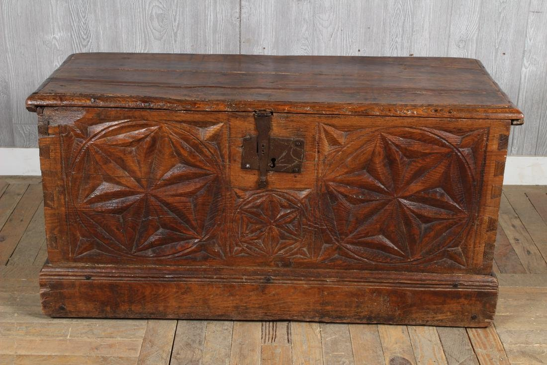 Chip Carved Anglo Indian Chest - 2
