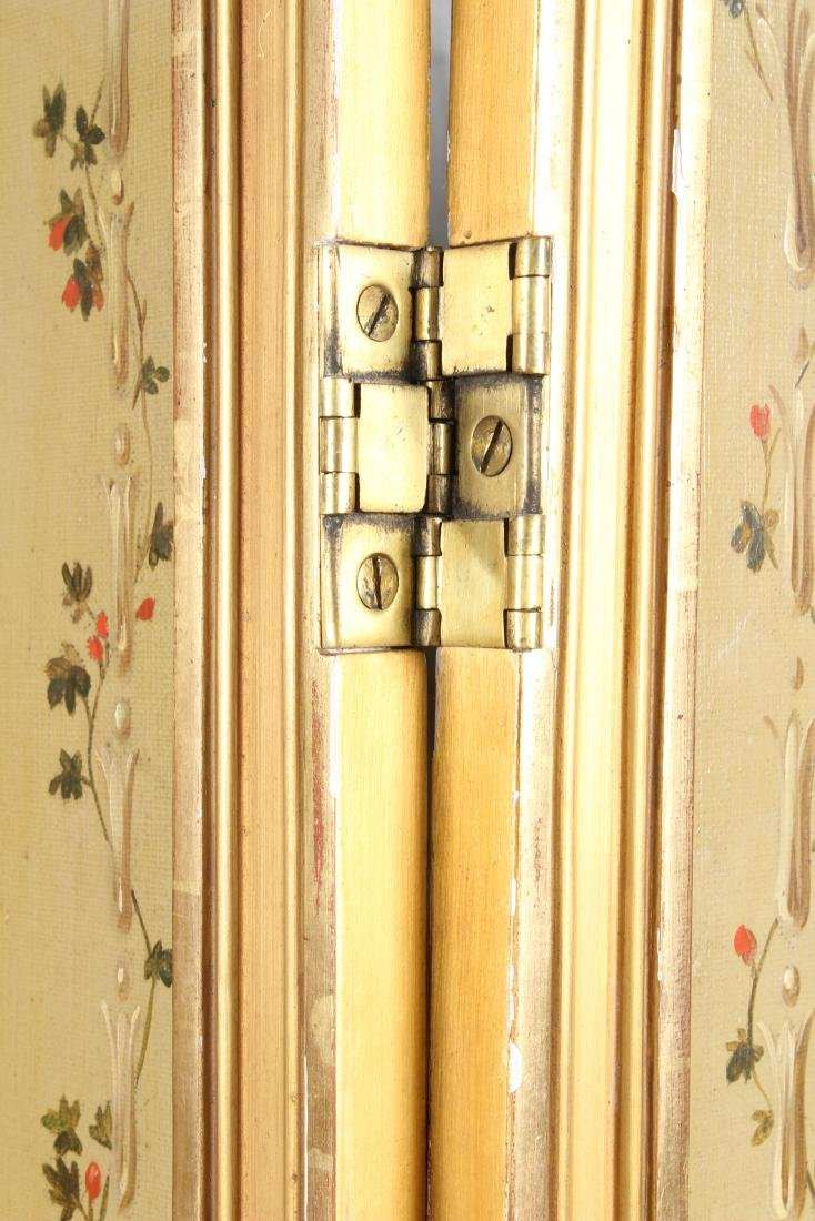 Neoclassical Painted 3 Panel Screen - 2