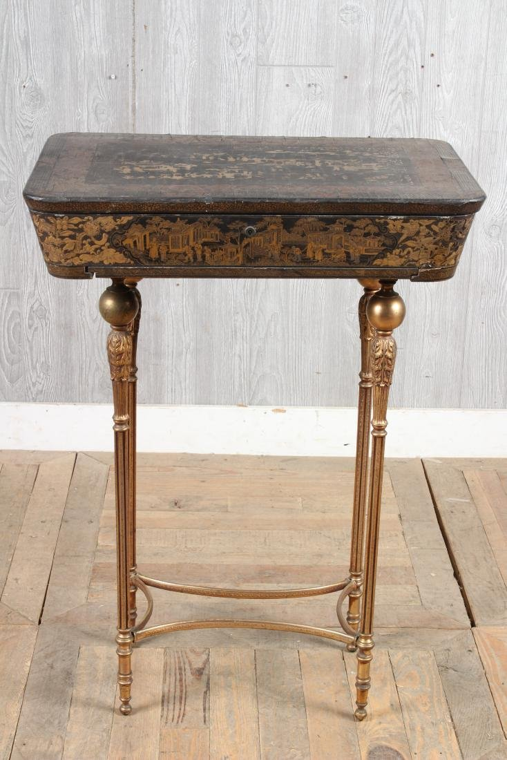 Chinoiserie Lacquered Sewing Stand - 2