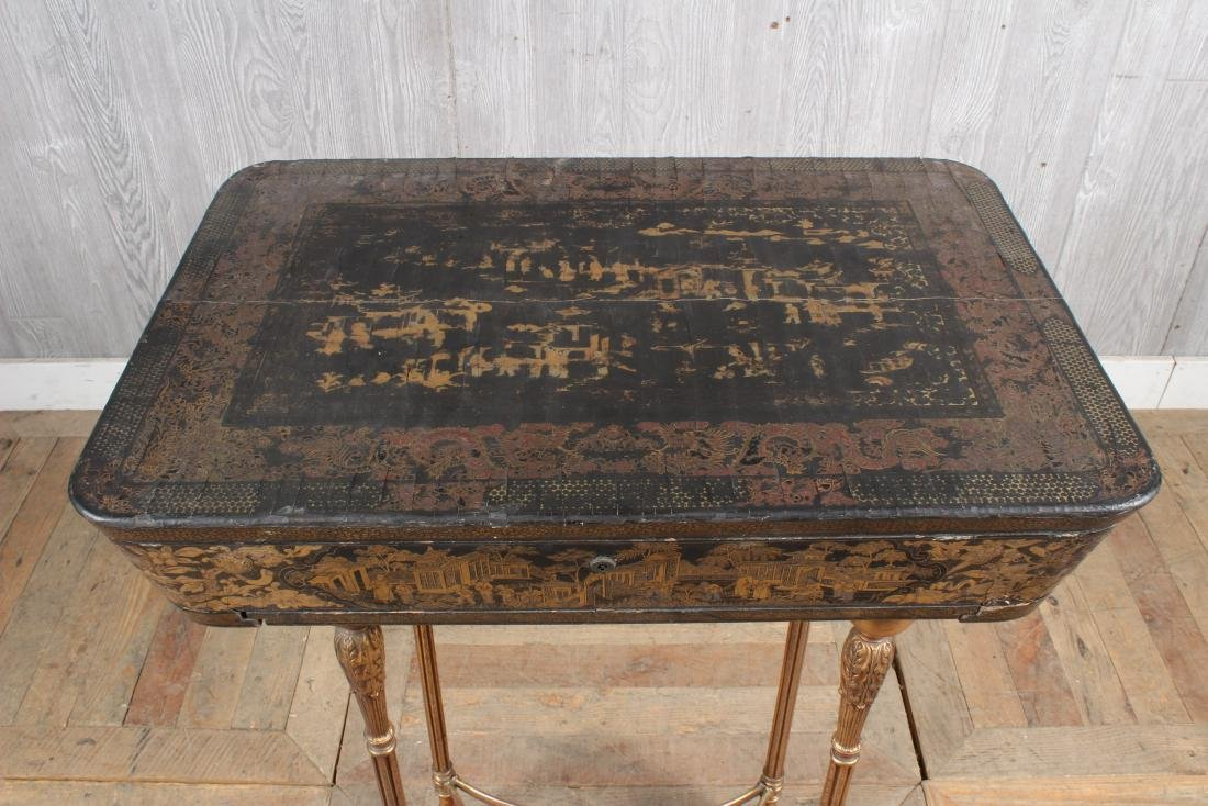 Chinoiserie Lacquered Sewing Stand - 3