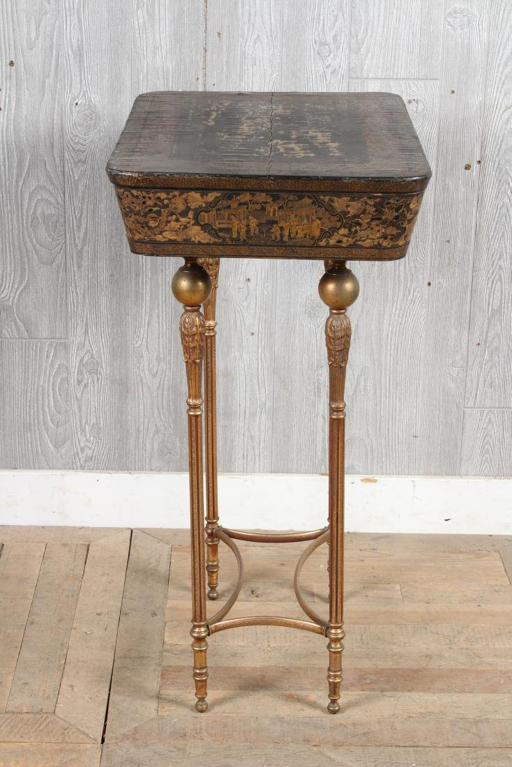 Chinoiserie Lacquered Sewing Stand - 4