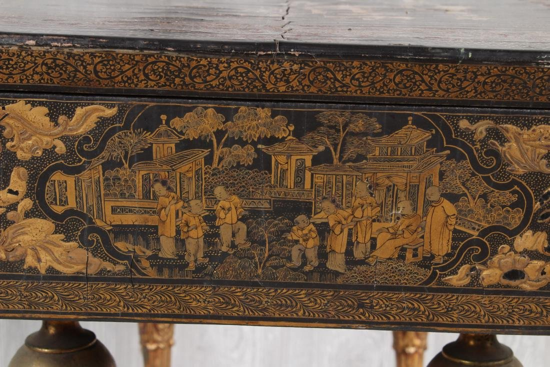 Chinoiserie Lacquered Sewing Stand - 5