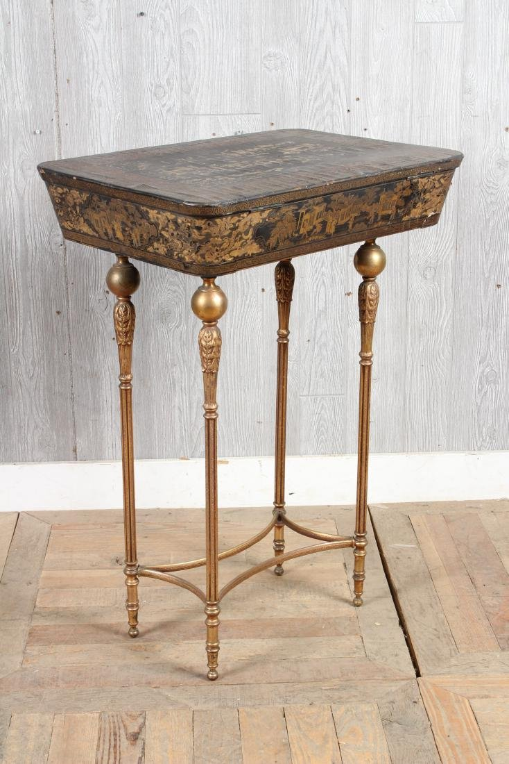 Chinoiserie Lacquered Sewing Stand - 7