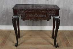 Chippendale Style Carved Mahogany Table