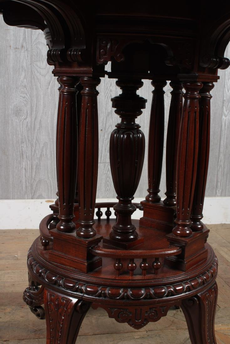 Victorian Carved Center Table - 2