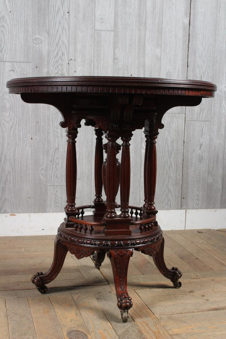 Victorian Carved Center Table - 3