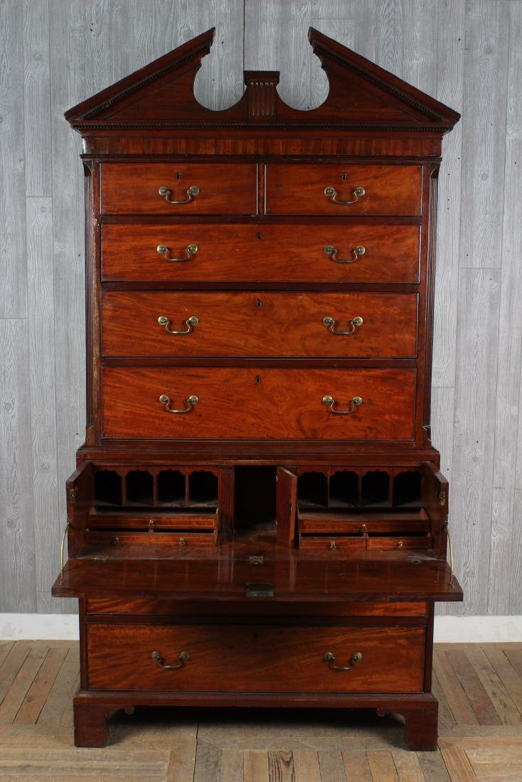 19th C. English Geo III Style Chest on Chest - 2