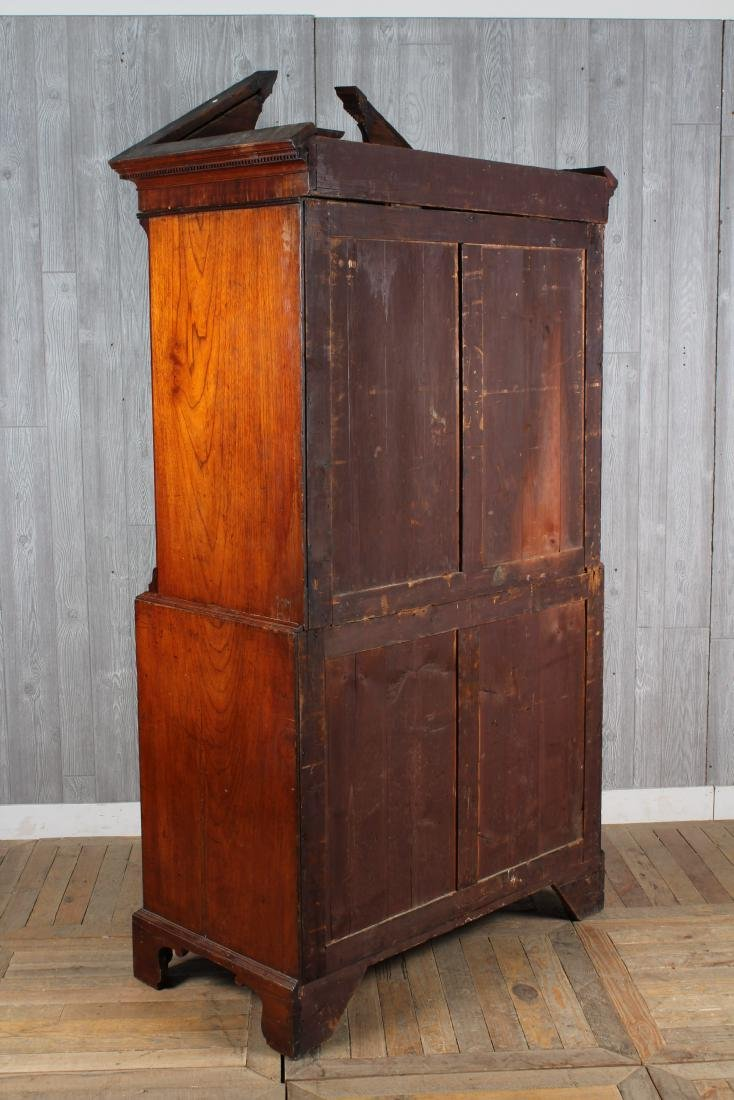 19th C. English Geo III Style Chest on Chest - 4