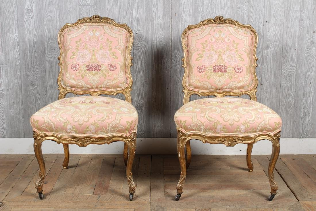 Pr. 19th C. French Louis XV Side Chairs