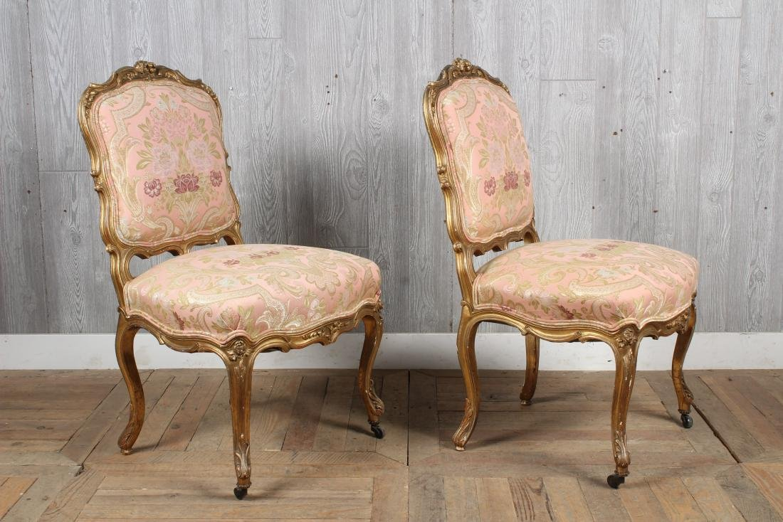 Pr. 19th C. French Louis XV Side Chairs - 2