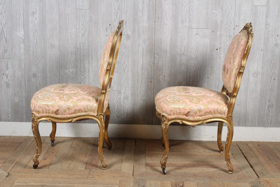 Pr. 19th C. French Louis XV Side Chairs - 4