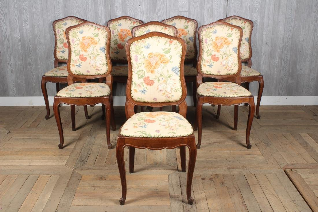 8 French Louis XV Style Dining Chairs