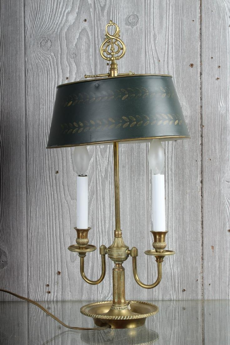 Bronze and Tole Decorated Bouillotte Lamp - 3