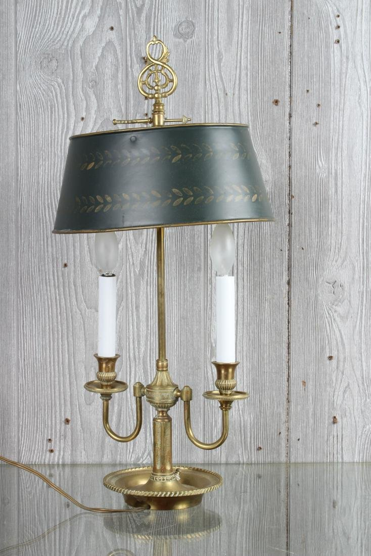 Bronze and Tole Decorated Bouillotte Lamp - 4