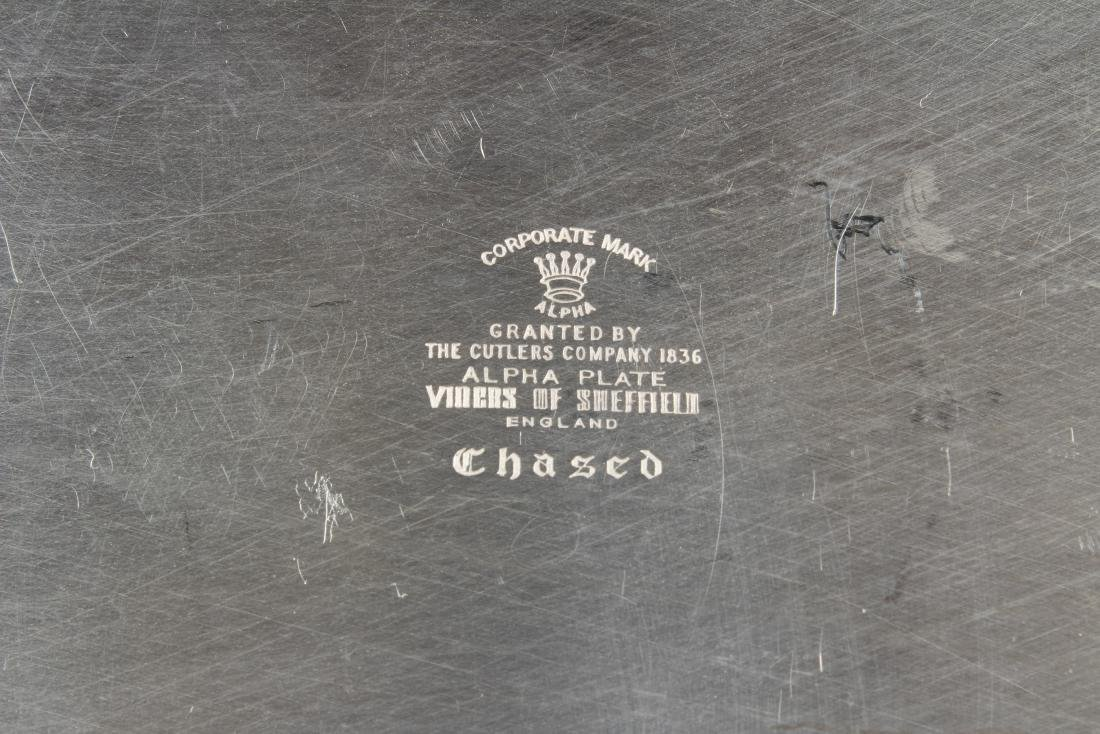 Silver Plate Chased Viners of Sheffield Tray - 5