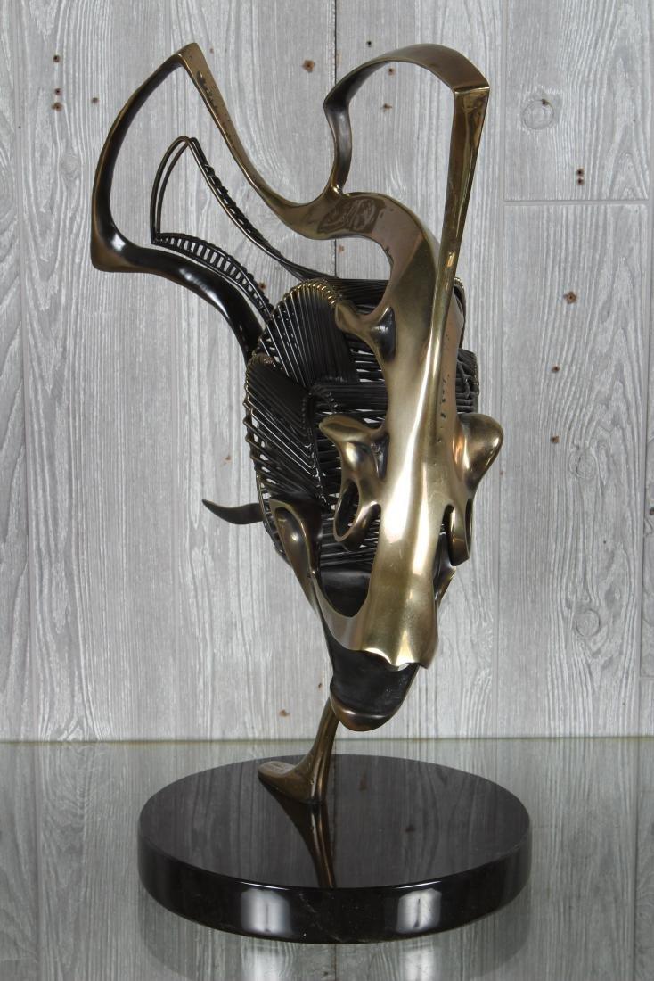Bronze Skeletal Fish Sculpture by Jagger - 3