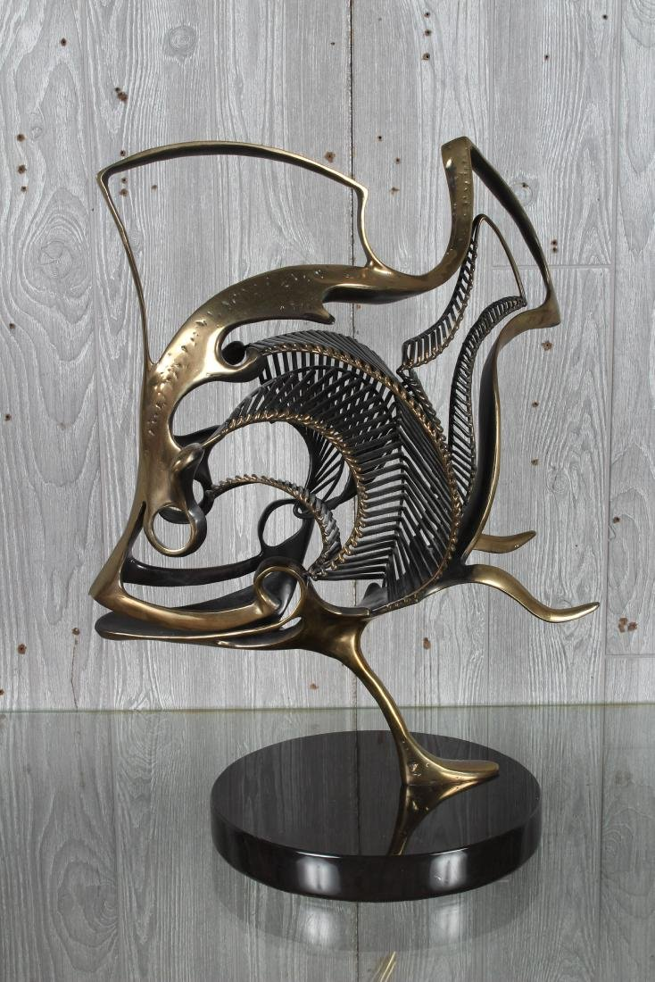 Bronze Skeletal Fish Sculpture by Jagger - 4