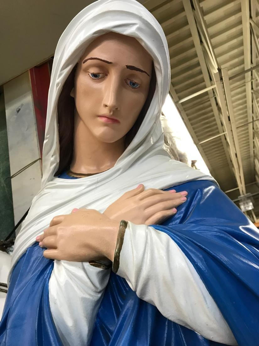 Large Italian Plaster Mater Dolorosa and Jesus - 5