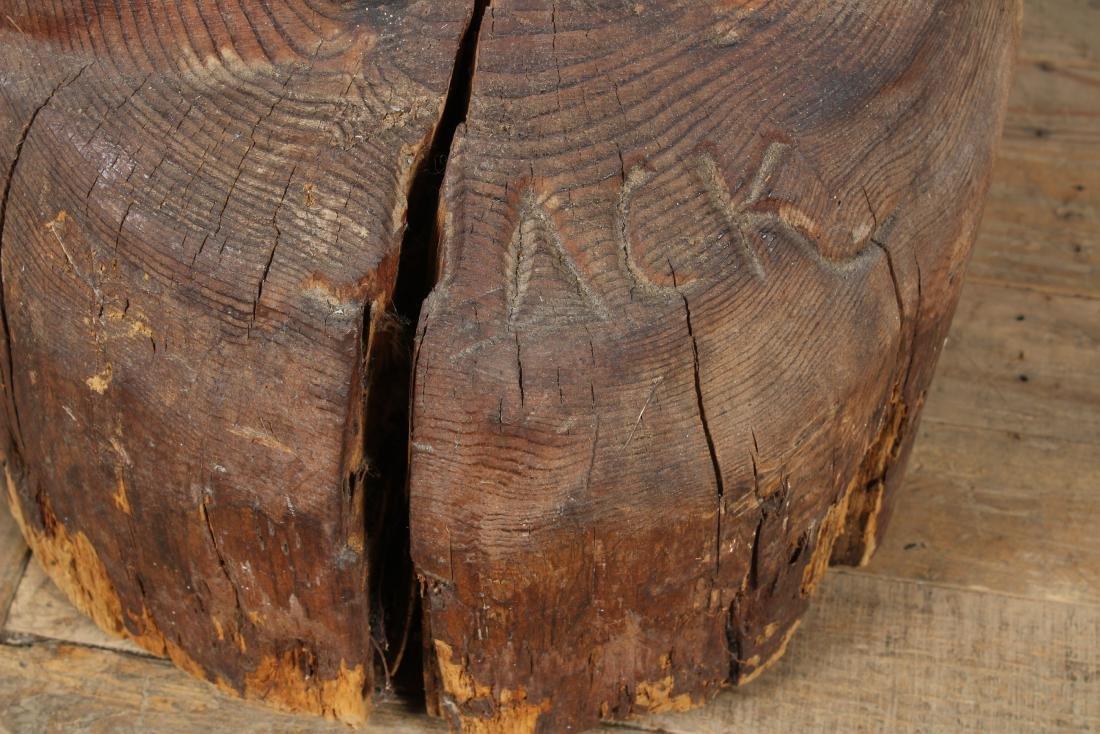 Folk Art Carved Wood Moses Sculpture Signed Jack - 2
