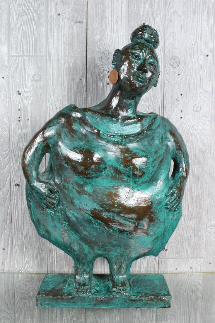Verdigris Ceramic Figural Sculpture
