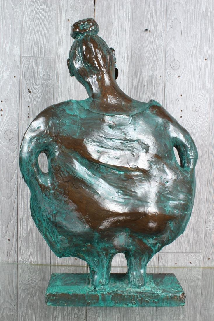 Verdigris Ceramic Figural Sculpture - 3