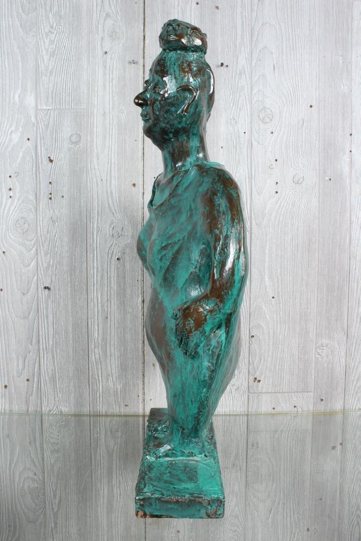 Verdigris Ceramic Figural Sculpture - 4
