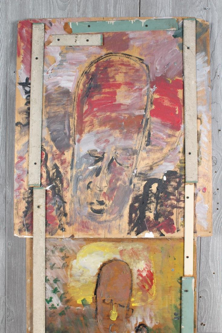 Purvis Young Twofer Painting on Wood - 2