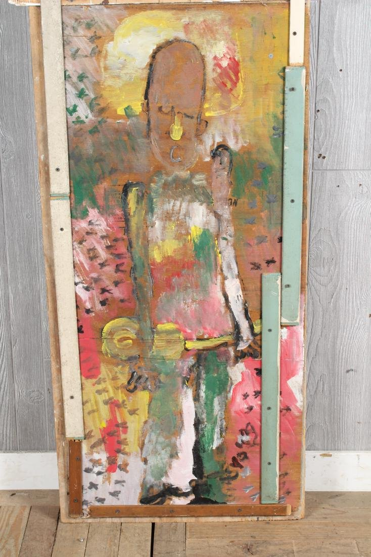 Purvis Young Twofer Painting on Wood - 3