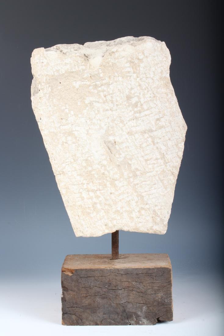 Indian Polychrome Sandstone Deity Portrait Bust - 3