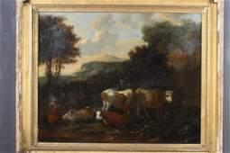 Pastoral Barbizon School Style Painting