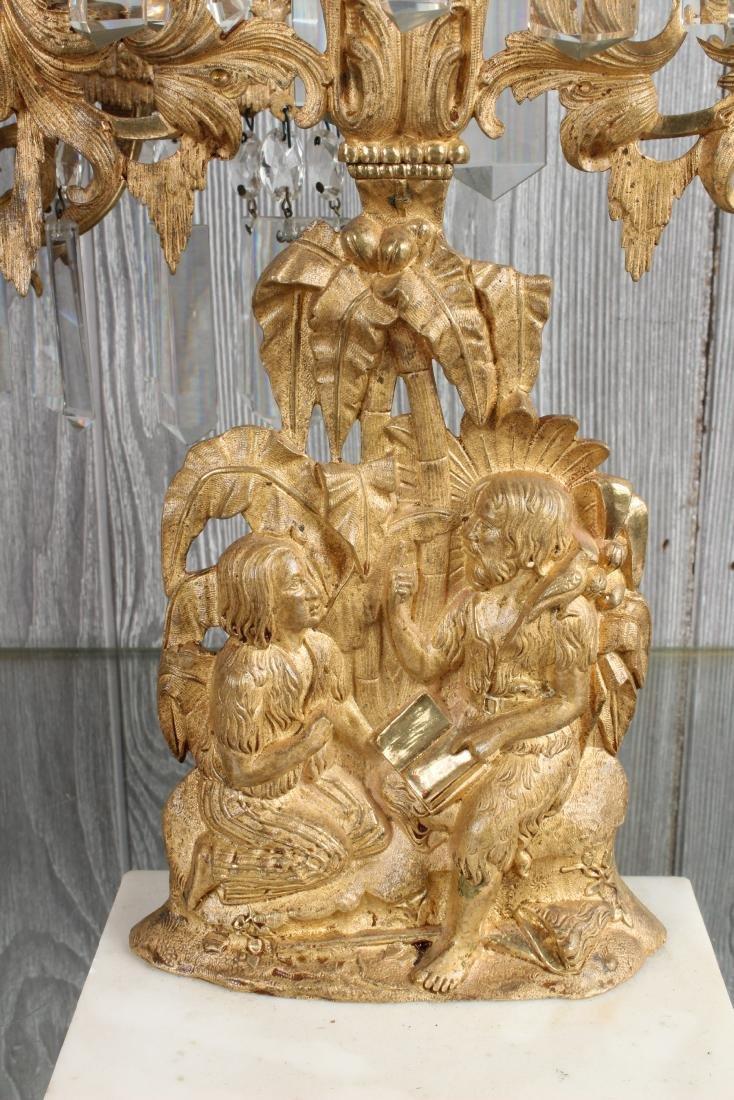 Dore Bronze and Prism Figural Girandole Garniture - 2