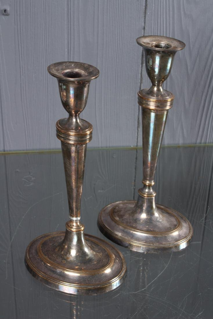 Pair Silver Plated Candlesticks - 2
