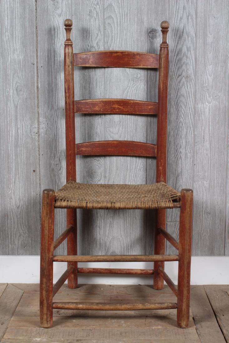 Shaker Split Cane Ladder Back Chair