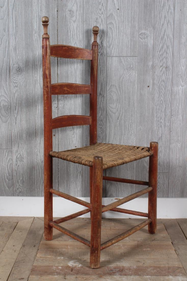 Shaker Split Cane Ladder Back Chair - 2