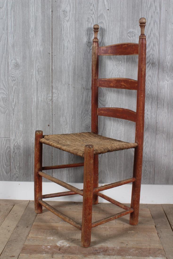 Shaker Split Cane Ladder Back Chair - 3