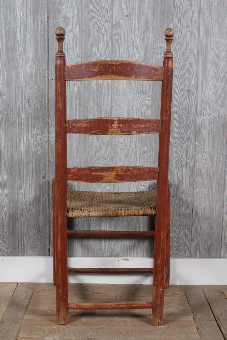 Shaker Split Cane Ladder Back Chair - 4