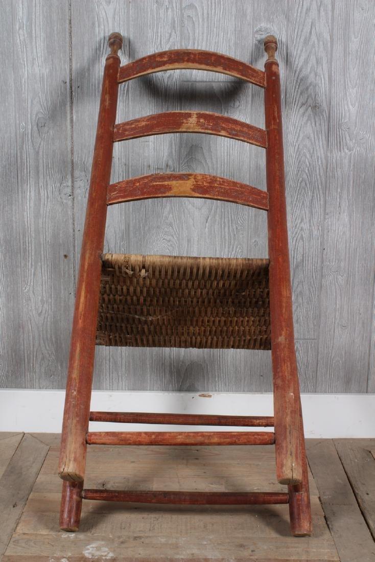 Shaker Split Cane Ladder Back Chair - 5