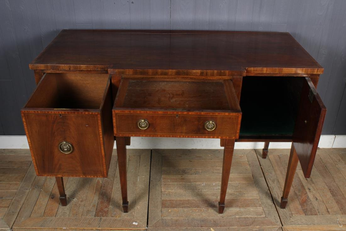 19th C English Hepplewhite Breakfront Sideboard - 2